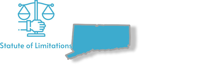 A stylized image of Connecticut with the words Statute of Limitations