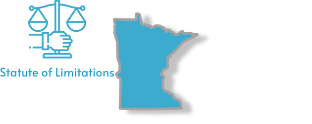 A stylized image of the state of minnesota with the words Statute of Limitations written on it