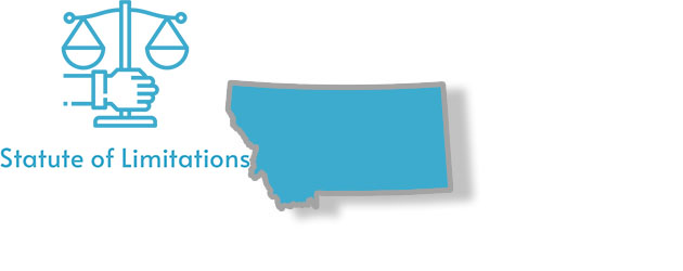 A stylized image of Montana with the words statute of limitations written on it