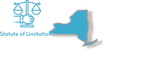 A stylized image of New York with the words Statute of Limitations overlaid