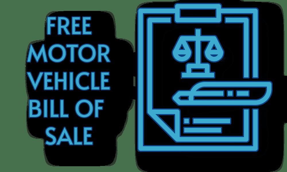 Free Motor Vehicle Bill of Sale Template