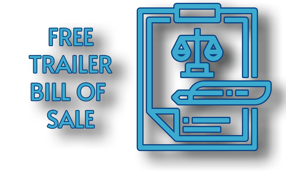 Free Trailer Bill of Sale Template